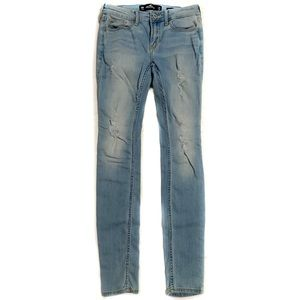 Holister light washed ripped jeans